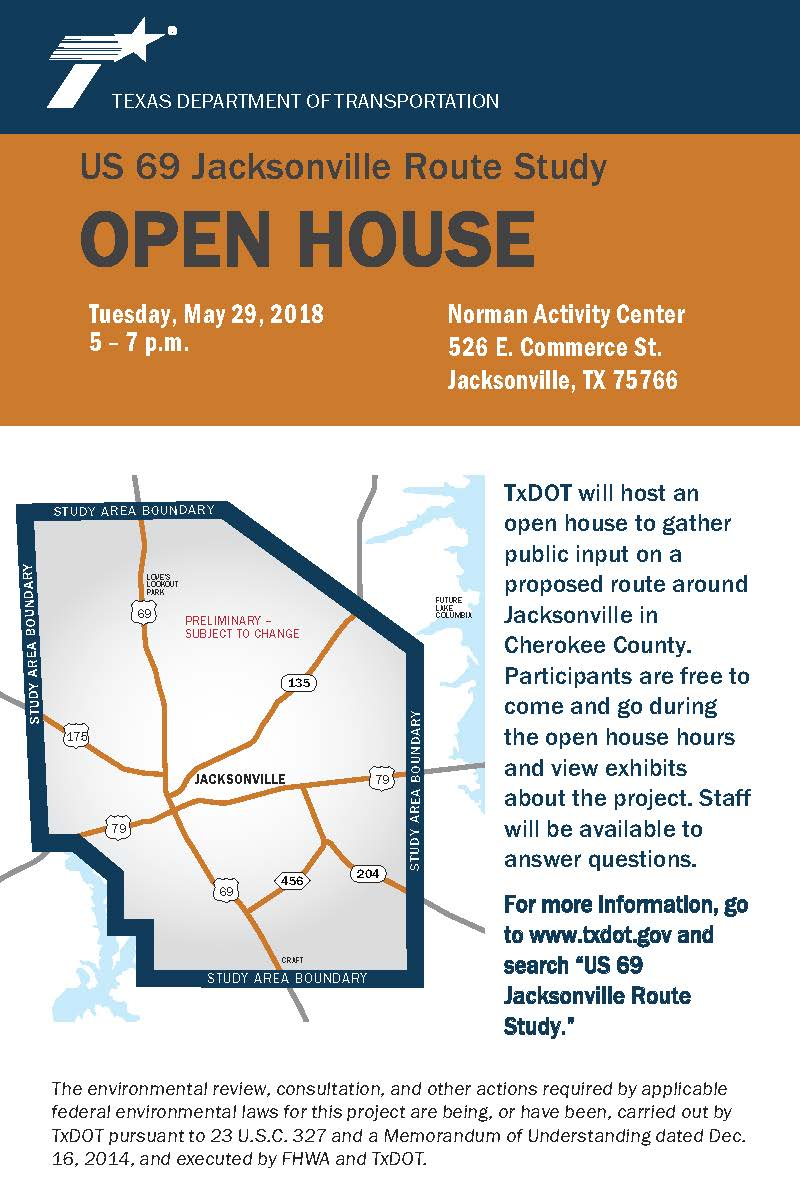 TxDot Open House May 29, 2018